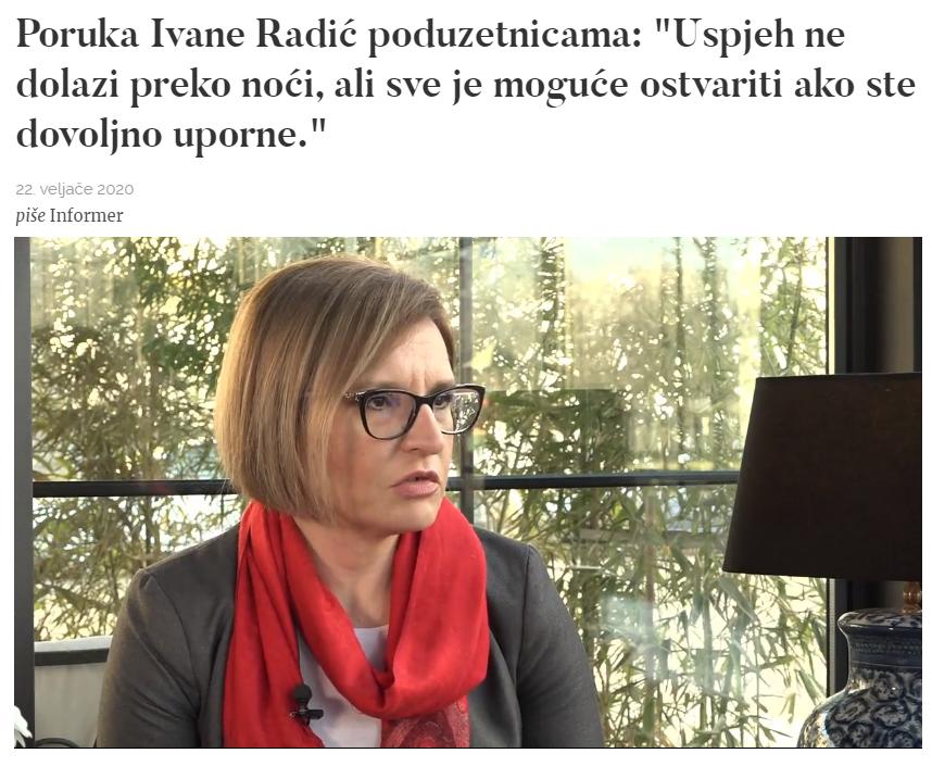Ivana Radić za Informer, veljača 2020